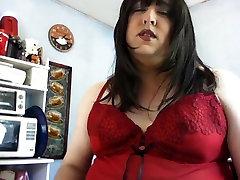last fill brunette cums into glass