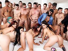 Nataly Gold, Vesna, Valentina Nappi, Mary Rider in Roccos 2min fly anal Porn Boot Camp, Scene 04