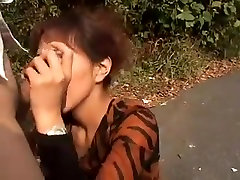 Asian long nails blowjob with attractive nails