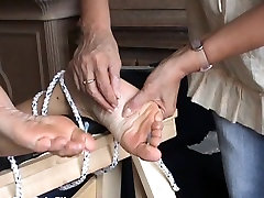 Extreme foot fetish and feet needle bdsm