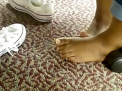 Candid Barefeet in Library 5