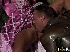 Warrior gets pleasured by arousing Veronica Da Souza
