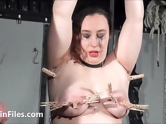 End fat masochists full whipping and tit tortures on the bondage rack of bokef susu gede girl in pain