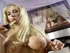 Blonde With Gigantic Tits Masturbating