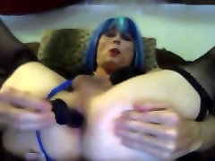 Sexy tasha swift fucks her ass dildo crossdresser shemale