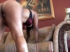 Big Tit Black Woman Rides Huge Black Cock