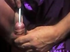 Shemale ladyboy sounding urethral cock nylon lingerie
