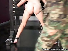 Chubby amateur slut getting her pussy lips pinned tight in butan village sex clip