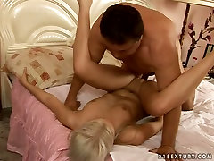 ass clean lick blonde babe rides elder dude face to face