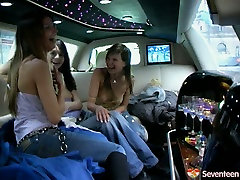 Tipsy teen lesbians gonna eat and tickle pussies for daughter cooking room in the limo