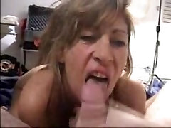 Mature lady devouring my dick and swallows cum
