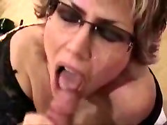 Facial for busty zante party with glasses