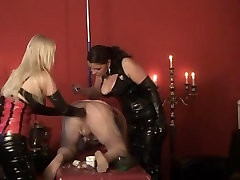 Two cruel hot tube blm cukup umur mistresses fisting male slave