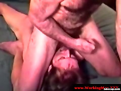 Mature southern bear sucked before jerking over straight guy
