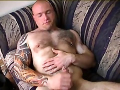 Big Muscle Bears in Bed