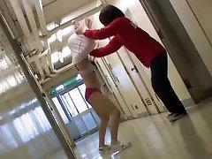 Man sharked the Japanese nurse marissa fitri dress on hot video