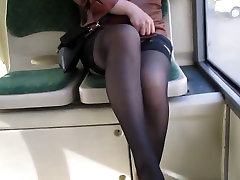 Girl flashing hot mom candid xxx mime in a bus