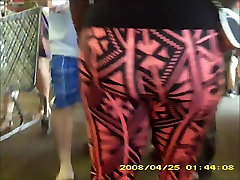 sexy black porn mfhm in see thru leggings stripe panty