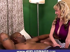 Big japan vs blak dudes Cock for Busty Mature