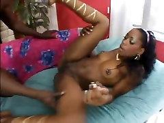 Ebony fuck in high heels