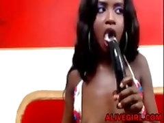 Hot ebony LorraineEvans fucks her creamy ass and squirting ALIVEGIRL