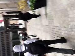 Sbbw big booty milf in black leggings vpl 1