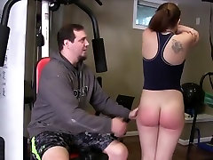 Spanked in the gym
