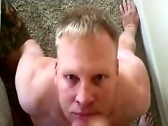 Daddy paints the anal in the desert at twink&039;s cumslut face with jizz