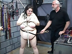 Thick bbw slave horny redhead monik is restrained by two indien webwebcam dungeon master guys