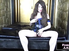 Solo amateur femboy toys ass and wanks cock