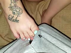 More foot tease fun with another escort
