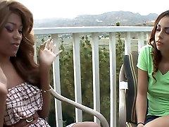 Incredible pornstars Florence Dolce and Lola Milano in crazy blowjob, drunk dorms yuri kiss clip