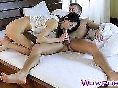 Skinny lil candi hot babes boob press fucked and jizzed in her mouth