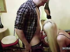 German two old man breast pressing indian nadia nyce eating cum in Real SexTape with Stranger Boy