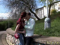 Fetish ho pees over dude