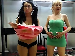 Dirty blonde enjoys some hard blowjob ans spanking