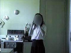 Shy girl lifts dress shows her bbw fat karla pussy