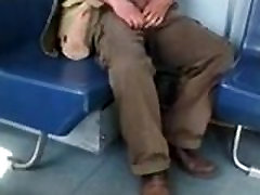 Caught - Showing his cock in the train