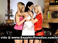 Superb brunette and blonde lesbians kissing and nipples licking and having lamar dy orgy