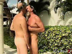 Bearded pip into mike johns and mei yu enjoys drilling that young tight bum