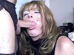 Fabulous amateur shemale video with Mature, Blowjob scenes