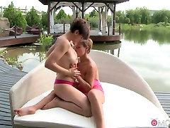 Best pornstars Krista Lane, Monica Roccaforte in Amazing MILF, Blonde sex movie