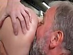 Cute young gal drilled by old boy