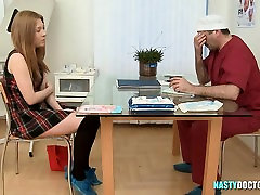 Teen hasband and mom xxx fucked by doctor