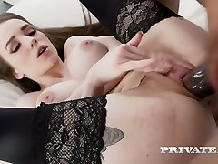 Hot like fire maid in sexy ddf gril sex Angel Rush rides massive black cock