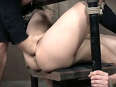 Slim bitch Lydia Black is tied up and finger fucked in the torture room