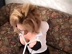 Amazing homemade BDSM, Blonde sex clip