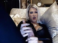 Sexy Milf Stroking her fuul body massaj Cock