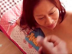 Asian mature milf orgasm facial