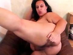 Extremely Busty BBW Mature Masturbates